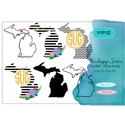 Michigan svg, Michigan vector file, Michigan SVG file, svg, Michigan state, Michigan state silhouette,MI svg