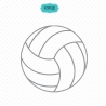 Sports ball svg files, volleyball