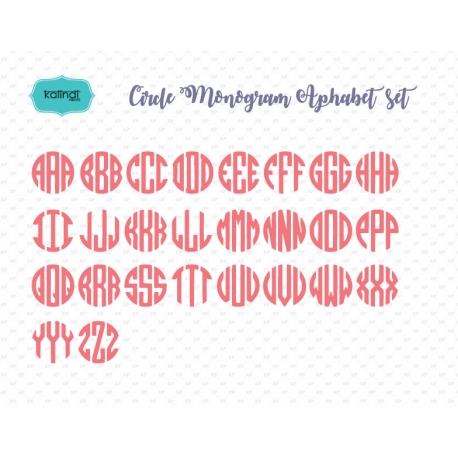 Circle monogram letters , monogram font SVG for Cricut, circle monogram svg, Alphabet font for cutting machines