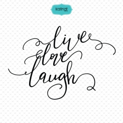Live, Love, Laugh quote svg, hand lettering svg
