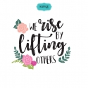 We rise by lifting others quote svg, hand lettering, positive saying svg, quote svg, svg file, svg