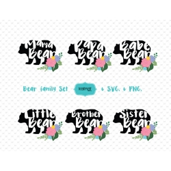 Mama Bear svg, Papa Bear svg set, Bear Family set