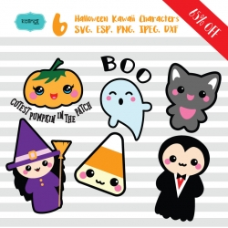 Halloween svg, cute halloween svg , halloween kawaii svg, cute halloween, kawaii svg