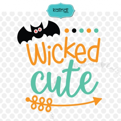 Wicked Cute Svg, Kids Svg, Halloween Svg, Baby Halloween Svg, Halloween  Saying