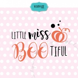 Little Miss Boo SVG, girl SVG, Halloween SVG, baby Halloween SVG