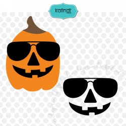 Pumpkin Face Glasses SVG, DXF, ESP, JPG