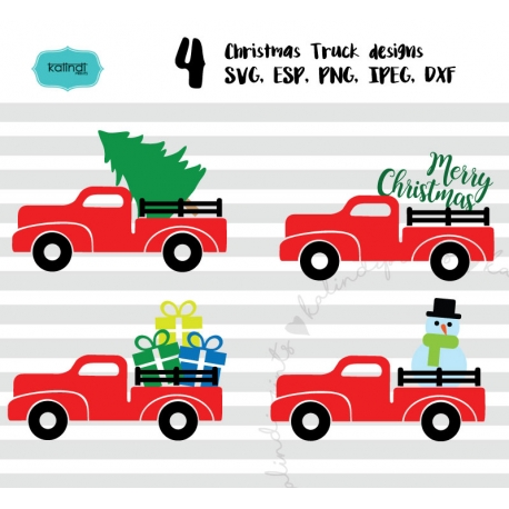 Christmas Truck Svg Tree Merry