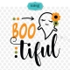 Boo tuful SVG, Halloween SVG, baby Halloween SVG, Halloween saying, cute SVG