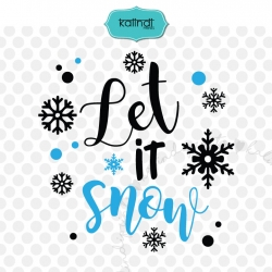 Let it snow SVG, Christmas SVG