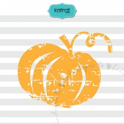 Distressed pumpkin SVG, Halloween SVG