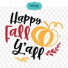 Happy fall yall SVG