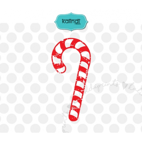 Grunge Christmas candy cane SVG