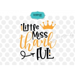Little Miss Thankful SVG, thanksgiving SVG