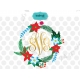 Christmas monogram SVG, winter flowers SVG