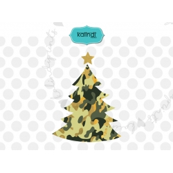 Camouflage Christmas tree SVG, camo Christmas SVG