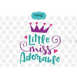 Little miss adorable SVG