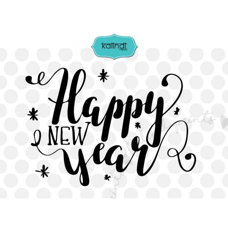 new year svg new years svg handlettering svg