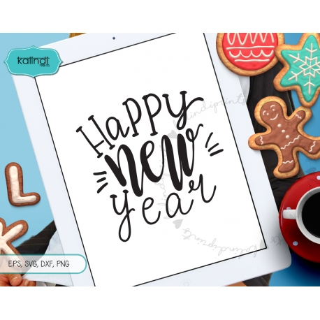 New Year SVG, New Years SVG, Handlettering svg