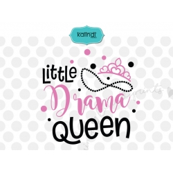 Little drama queen SVG, girl SVG