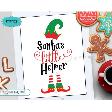Santa's little helper SVG, elf SVG, Santa SVG