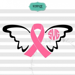 Pink ribbon SVG, cancer SVG