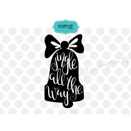 Jingle all the way svg, Hand lettering Christmas SVG