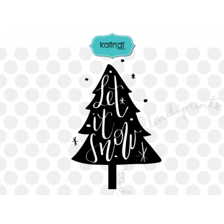 Let it snow SVG, Hand letter svg, Christmas SVG