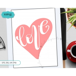 Love svg, wedding svg, hand-lettered svg