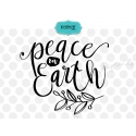 Peace on earth SVG, hand-lettered SVG, peace on earth, holiday SVG, merry Christmas SVG