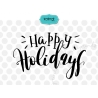 Happy Holidays SVG, Hand lettering SVG, Christmas SVG
