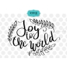 Joy to the world SVG, Hand lettering SVG, Christmas SVG
