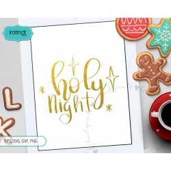 Holy night SVG, Hand lettering SVG, Christmas SVG