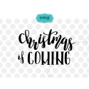 Christmas is coming SVG, Hand lettering SVG, Christmas SVG
