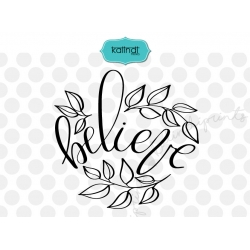 Believe svg, Hand lettering Christmas SVG