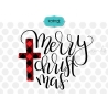 Plaid Merry Christmas SVG, plaid design, Merry Christmas SVG
