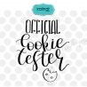 Official cookie tester svg , hand lettering svg