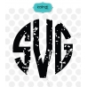 Grunge monogram letters svg, distressed svg