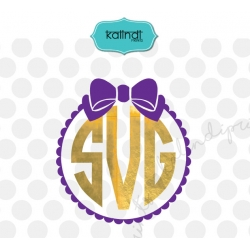 Bow monogram SVG, bow SVG, monogram SVG