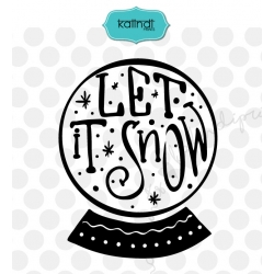 Snow Globe SVG, New Year, Hand lettering