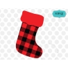 Plaid Christmas stocking, Christmas stockings