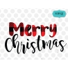 Plaid merry Christmas SVG