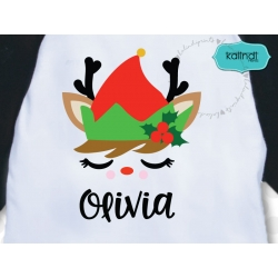 Reindeer elf SVG, Christmas SVG