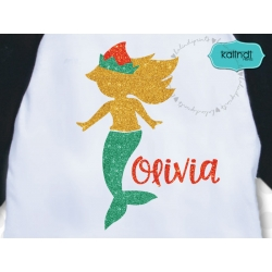 Mermaid elf SVG, Christmas SVG