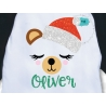 Bear face SVG, Christmas SVG, Bear Santa SVG
