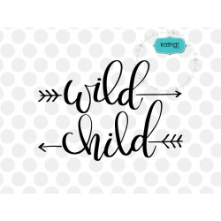 Wild child svg, hand lettered svg,