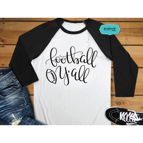 Football Y'all SVG, hand lettering SVG