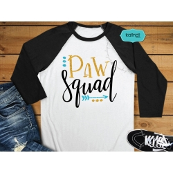 Paw Squad SVG, dog lover SVG, hand-lettered