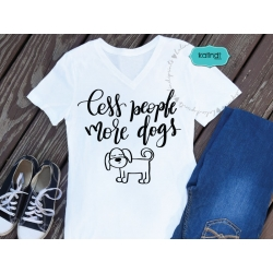 Less people more dogs SVG, dog lover SVG, hand-lettered