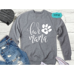 Fur mom SVG, dog lover SVG, hand-lettered