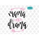 Mama of drama svg file, hand-lettered SVG, mother SVG, mother quotes clipart